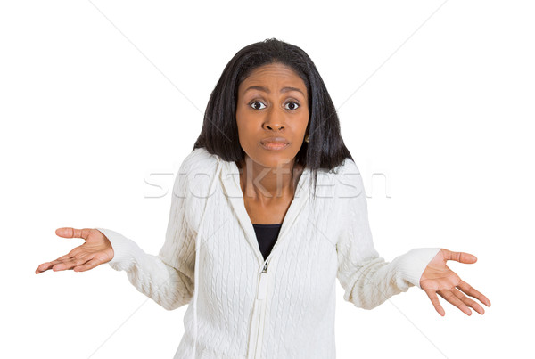 woman arms out shrugs shoulders I don't know Stock photo © ichiosea
