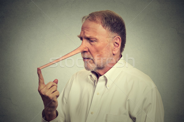 Sad man with long nose worried Stock photo © ichiosea