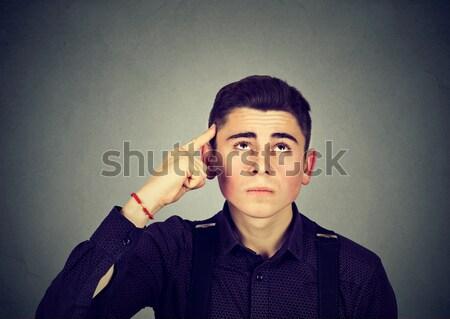 Człowiek ktoś słuchania telefonu komórkowego twarz Zdjęcia stock © ichiosea