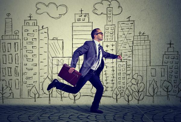 Running employee business man  Stock photo © ichiosea