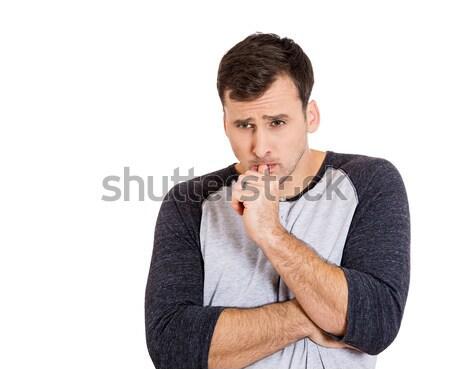 man deeply thinking Stock photo © ichiosea
