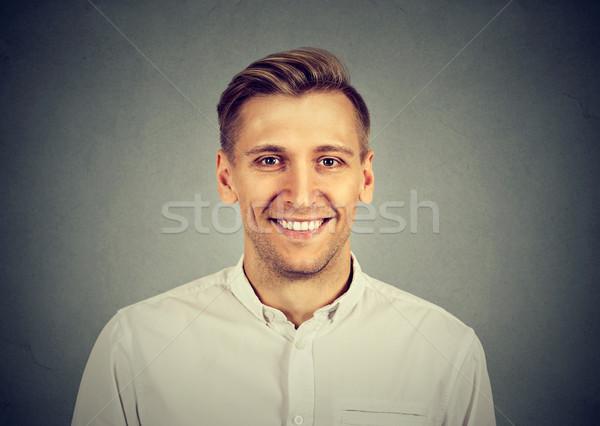 Сток-фото: улыбаясь · молодым · человеком · лице · человека · счастливым · мальчика