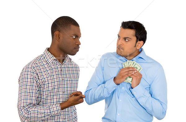 one man trying to steal money from the other Stock photo © ichiosea