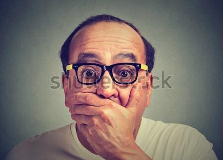 Ansioso hombre primer plano retrato tipo Foto stock © ichiosea