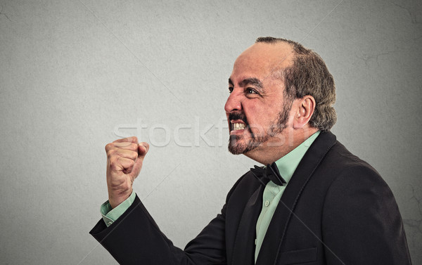 portrait angry middle aged man Stock photo © ichiosea