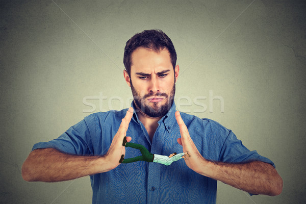 Creative выстрел человека рук сердиться парень Сток-фото © ichiosea