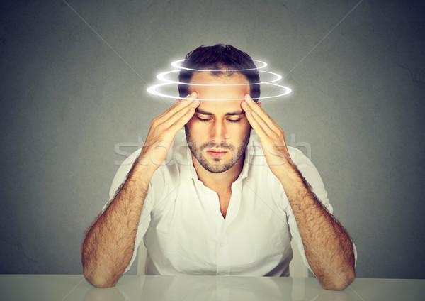 Сток-фото: человека · головокружение · молодые · пациент · страдание · мужчины