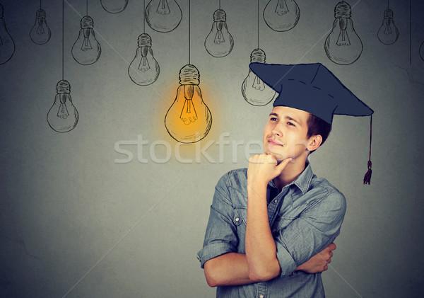 öğrenci kapak cüppe ampul Stok fotoğraf © ichiosea