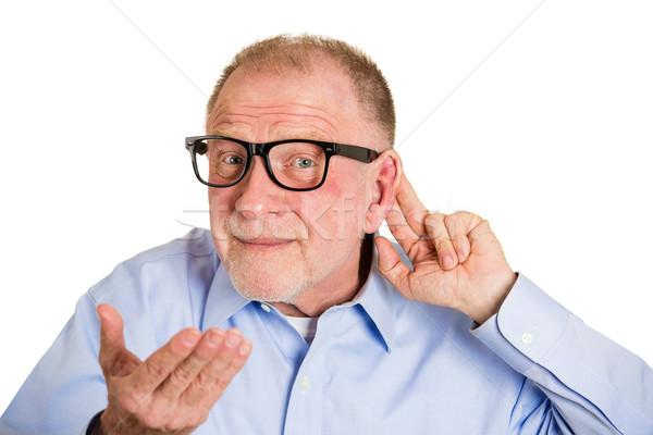 O que retrato senior homem nerd Foto stock © ichiosea