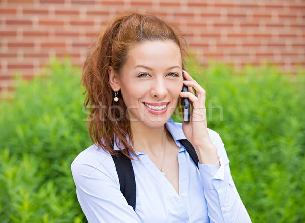 деловой женщины телефон улице портрет деловая женщина Сток-фото © ichiosea