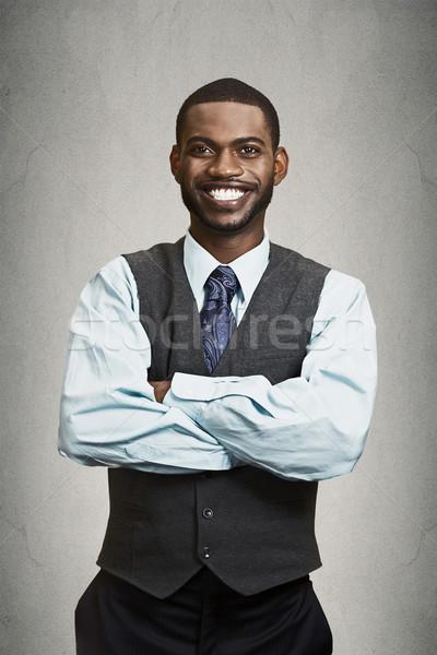 Foto d'archivio: Ritratto · felice · sorridere · corporate · executive · primo · piano