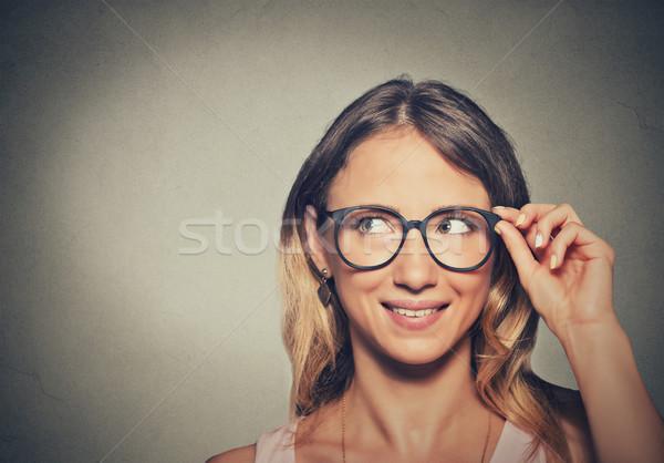 очки бизнеса глаза лице Сток-фото © ichiosea