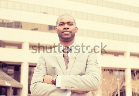 portrait of young professional man smiling laughing Stock photo © ichiosea