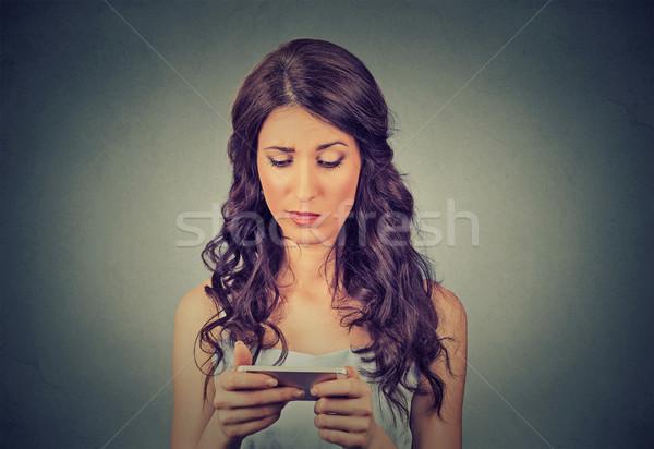 Bouleversé triste sceptique malheureux sérieux femme Photo stock © ichiosea