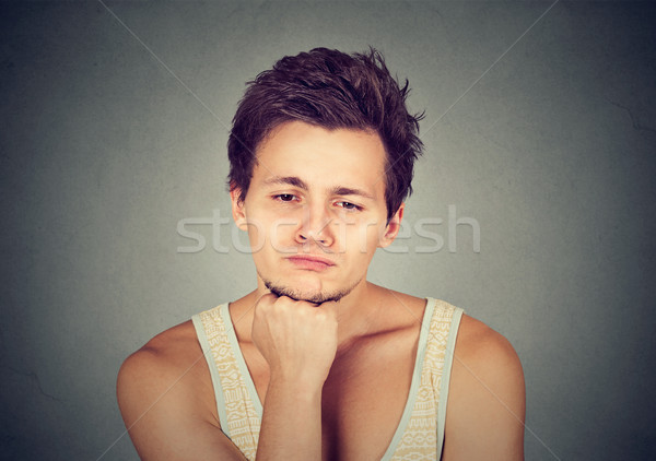 Sad man looking down has no motivation in life depressed  Stock photo © ichiosea