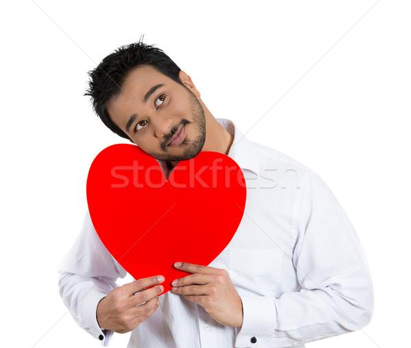 happy man holding heart Stock photo © ichiosea