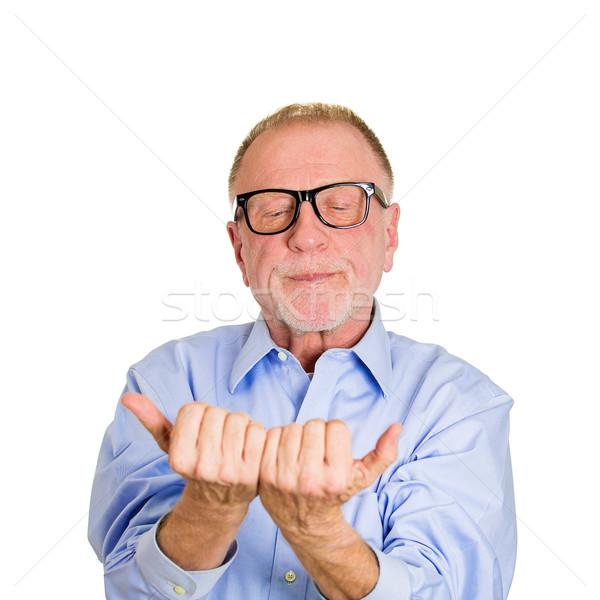 пожилого портрет старший Crazy человека Сток-фото © ichiosea