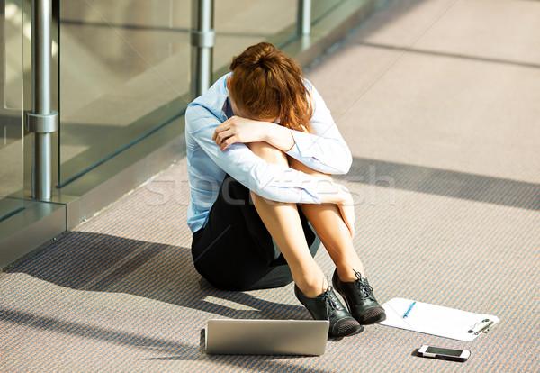Overwhelmed businesswoman Stock photo © ichiosea