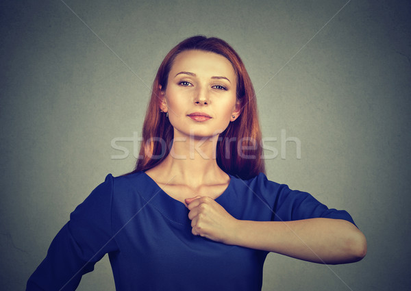 Superhero girl. Confident young woman  Stock photo © ichiosea