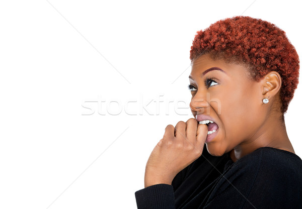 Dumb woman sucking thumb Stock photo © ichiosea