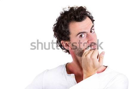 Ansioso unhas retrato tímido Foto stock © ichiosea