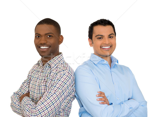 two confident smiling businessmen arms crossed Stock photo © ichiosea