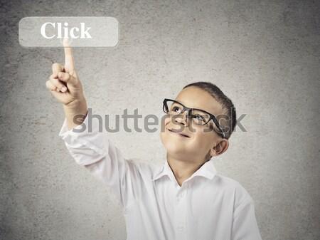 Toccare sì pulsante primo piano ritratto Foto d'archivio © ichiosea
