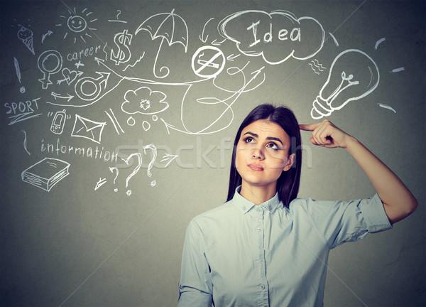 Thoughtful woman planning her future Stock photo © ichiosea