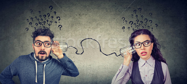 man and woman having troubled communication Stock photo © ichiosea