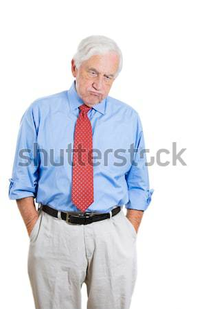 Stock photo: daydreaming old man
