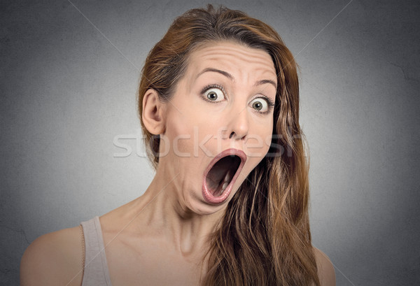 Surprise astonished woman Stock photo © ichiosea