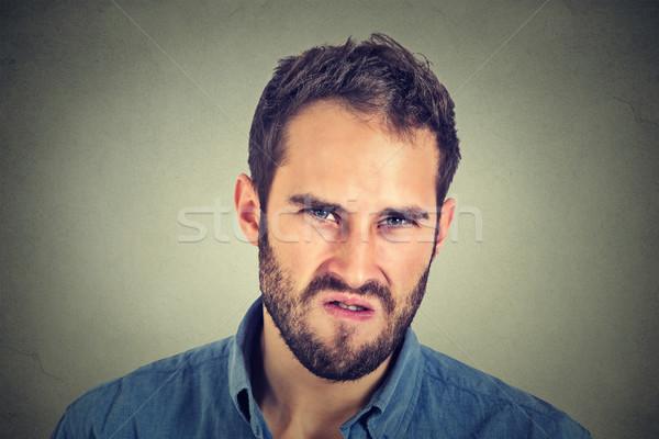 Sıkıntı öfkeli genç iş yüz Stok fotoğraf © ichiosea