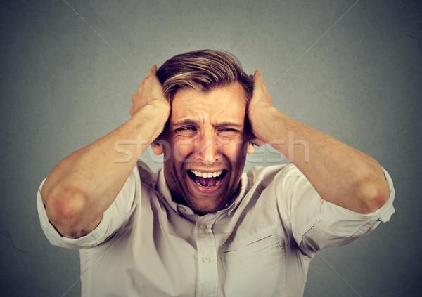 Сток-фото: человека · расстраивать · кричали · изолированный