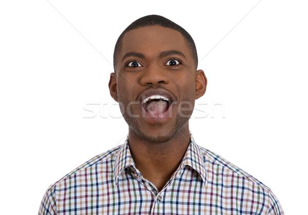 excited happy man Stock photo © ichiosea
