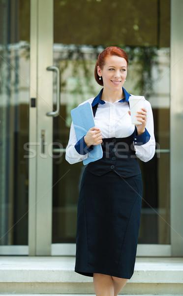 Kobieta interesu korporacyjnych biuro portret atrakcyjny młodych Zdjęcia stock © ichiosea