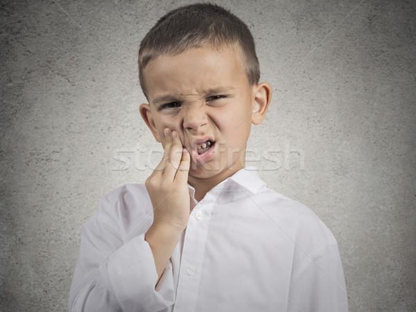 Criança dor de dente retrato menino sensível Foto stock © ichiosea