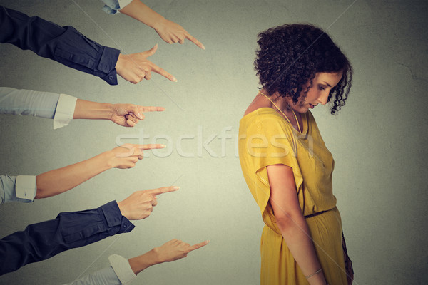 Acusação culpado pessoa triste chateado mulher Foto stock © ichiosea