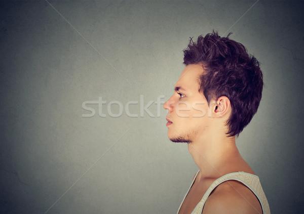 Side profile of a serious man  Stock photo © ichiosea