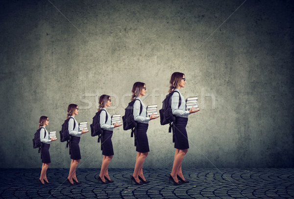 Progress in career and professional education growth concept  Stock photo © ichiosea