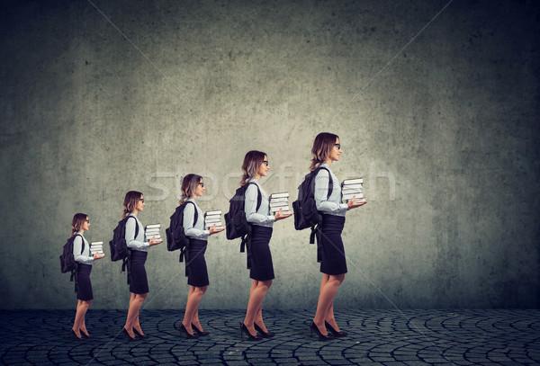 Fortschritte Karriere professionelle Bildung Wachstum erfolgreich Stock foto © ichiosea
