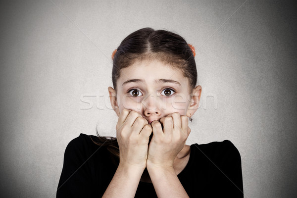 Scared, stressed little girl Stock photo © ichiosea