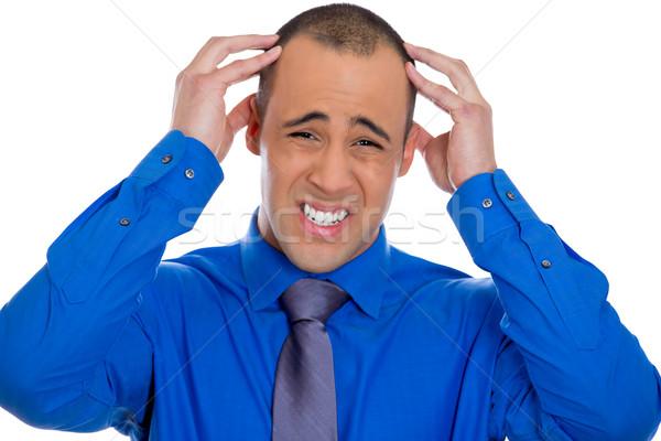 Man having headache Stock photo © ichiosea