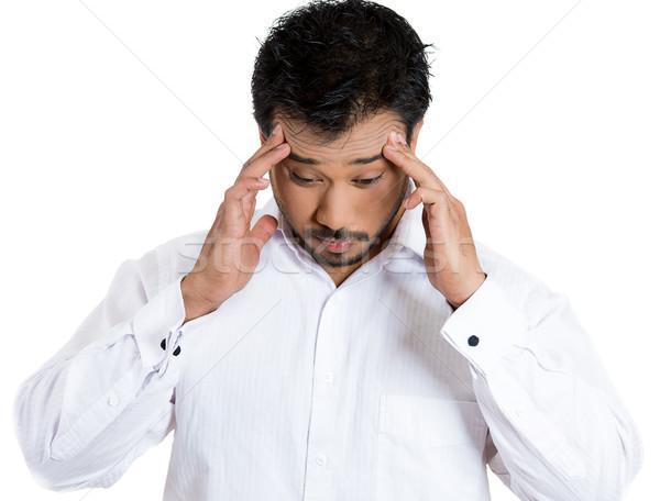 Zdjęcia stock: Człowiek · głowie · ból · portret