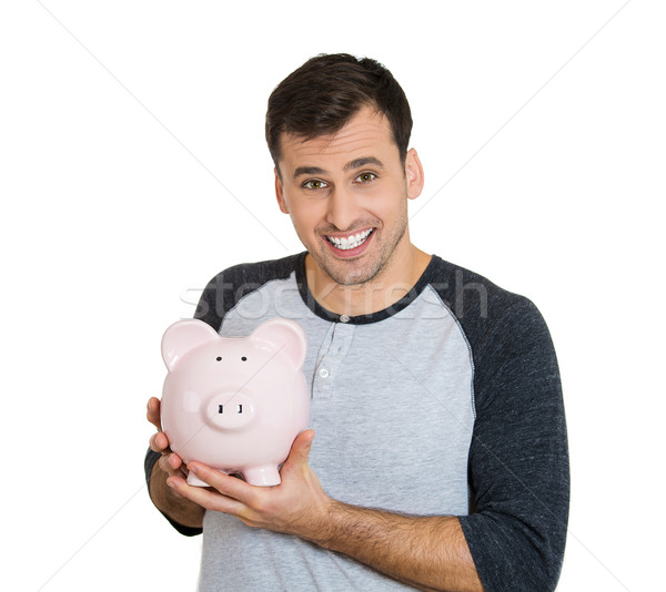 man holding piggy bank Stock photo © ichiosea