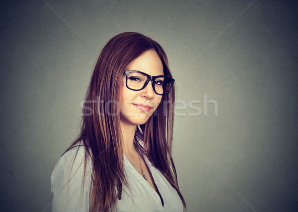 Displeased angry pessimistic woman with bad attitude looking at you Stock photo © ichiosea