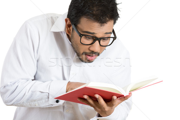 man surprised at what he reads Stock photo © ichiosea