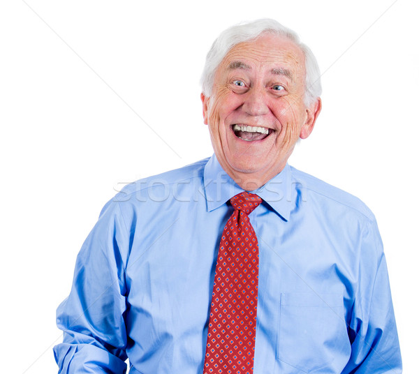 happy laughing old man Stock photo © ichiosea
