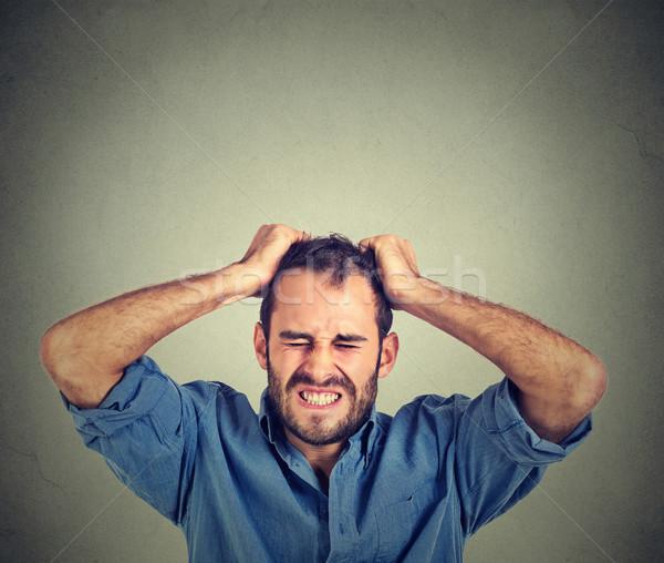絶望的な 男 背景 悲しい 悲鳴 ストックフォト © ichiosea