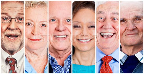Group of happy senior people smiling   Stock photo © ichiosea