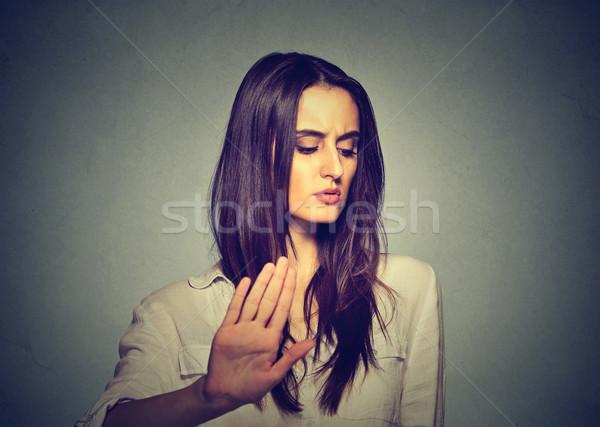 Alterar enojado mujer hablar palma Foto stock © ichiosea